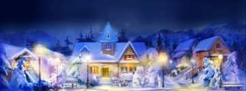 Nice Christmas Landscape Facebook Background