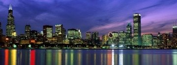 Night Skyline Facebook cover photo