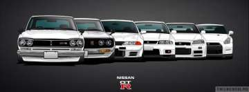 Nissan Gtr Generations Facebook Cover-ups
