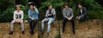 One Direction Sitting on a Wall Facebook Cover-ups