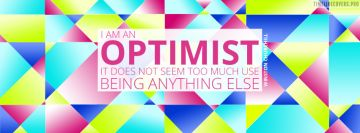 Optimist Winston Churchill Quote Facebook Cover Photo