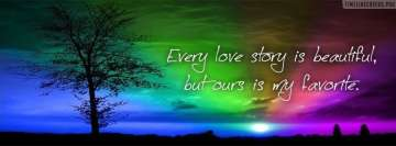 Our Love Story Quote Facebook cover photo