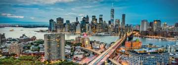 Panoramic View of New York City Fb Cover