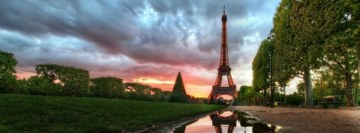 Paris Eiffel Tower Facebook cover photo