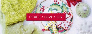 Peace Love Joy Christmas Facebook Cover