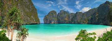Phi Phi Island in Thailand Facebook cover photo