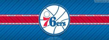 Philadelphia 76ers Striped Logo Facebook Wall Image