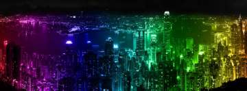 Photography Manipulation Colored City Lights Fb Cover