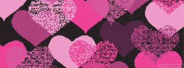 Pink Hearts Facebook Cover Photo