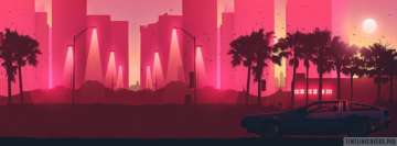 Pink Retro City Fb Cover