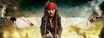 Pirates of The Caribbean on Stranger Tides Jack Sparrow Johnny Depp Facebook Banner