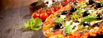 Pizza with Olives Facebook Banner