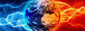 Planet Earth in Cosmic Storm Facebook Cover Photo