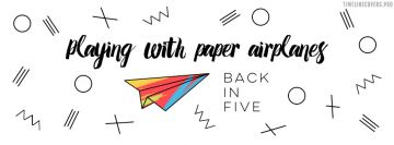 Playing with Paper Airplanes Facebook Cover Photo
