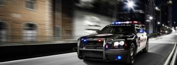 Police Car in Action Facebook Background TimeLine Cover
