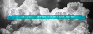 Psalm Heavens Declare Glory of God Free Christian Facebook Cover-ups