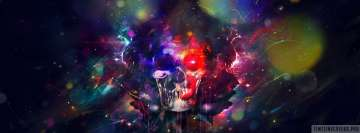 Psychedelic Colorful Skull Facebook cover photo