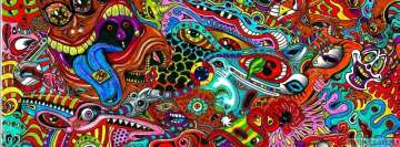 Psychedelic God Knows What Facebook cover photo