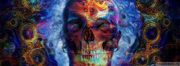 Psychedelic Skull Facebook cover photo