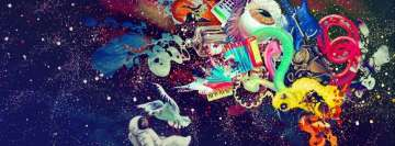 Psychedelic Space Things with an Eyeball Facebook Cover Photo