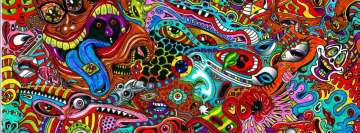 Psychedelic Surreal Drawing Facebook Cover
