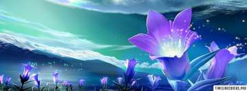 Purple Flowers Fantasy Facebook Cover Photo