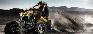 Quad Bike Dirt Drifting Facebook Cover Photo