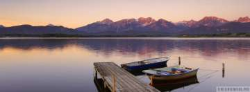 Quiet Lake with Boats Facebook cover photo