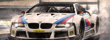Race Cars BMW in Rain Facebook Wall Image