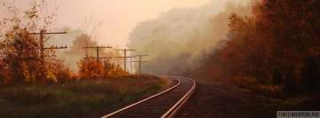 Railroad in Forest Facebook Cover