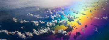 Rainbow Clouds Facebook Cover