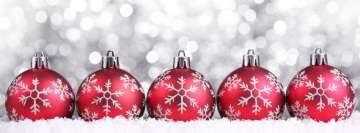 Red Christmas Decorations Facebook Cover