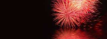 Red Fireworks Facebook Banner