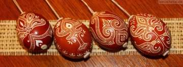 Red Painted Easter Eggs Fb Cover