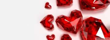 Red Heart Shaped Diamonds Facebook Cover