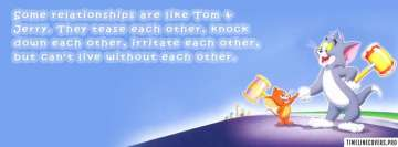 Relationships Like Tom and Jerry Facebook Banner
