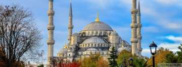 Religious Sultan Ahmed Mosque Istanbul Turkey Facebook cover photo