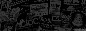 Retro AC-DC Background Facebook Banner