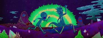 Rick and Morty Running Away Facebook Cover Photo