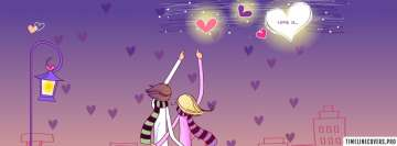 Romantic Love Couple Graphic Facebook Wall Image