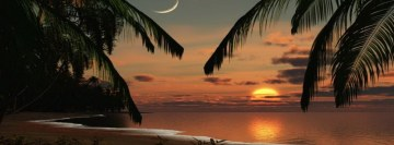 Romantic Sunset Beach Facebook cover photo