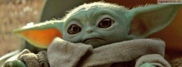 Sad and Lovely Baby Yoda Facebook cover photo