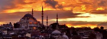 Scenic Istanbul Sunset Facebook Cover Photo