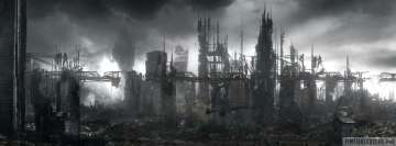 Sci Fi Post Apocalyptic Cityscape Facebook Cover