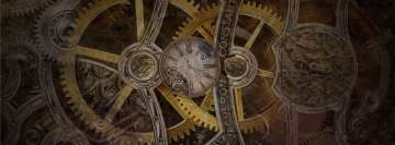 Sci Fi Steampunk Cogs Facebook cover photo