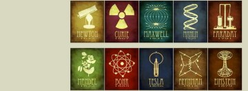 Scientists Symbols Facebook Wall Image