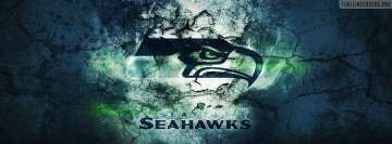 Seattle Seahawks Grunged Logo Facebook Background TimeLine Cover