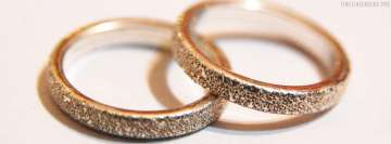 Silver Wedding Rings Facebook Wall Image