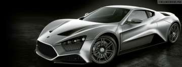 Silver Zenvo ST1 Car Fb Cover