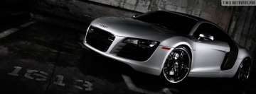 Silver Audi R8 Facebook cover photo